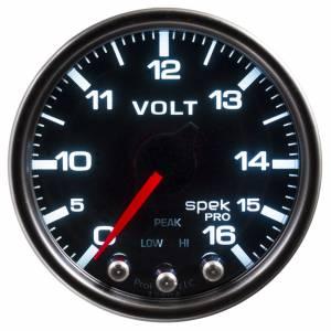 AUTO METER #P34452 Spek-Pro Voltmeter Gauge 0-16 Volt 2-1/16