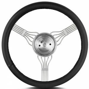 LECARRA STEERING WHEELS #55301 Steering Wheel Newstalgi c Banjo Pol. w/Blk Wrap