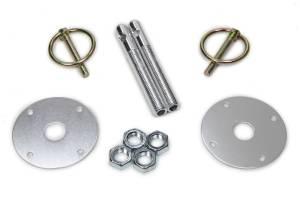FIVESTAR #10001-34033 Hood Pin Kit  3/8in Alum Silver 2-pack