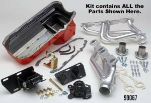 TRANS-DAPT #99067 ENGINE SWAP IN A BOX S10/V8 Ceramic Engine Swap Kit for 1982-2004 Chevy S10/Blazer & GMC S15, Jimmy, Sonoma 2WD