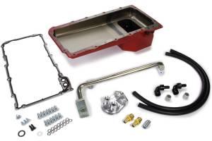 TRANS-DAPT #175 67-69 Camaro Red Pan LS Swap Oil Pan/Filter Kit