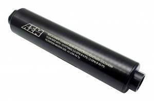 AEM #25-201BK Universal High Volume Fu el Filter. Inlet: -10AN