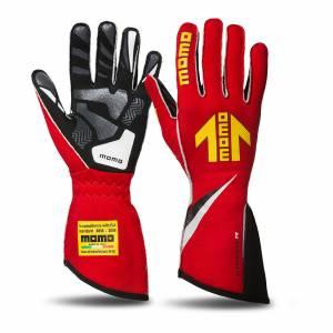 MOMO AUTOMOTIVE ACCESSORIES #GUCORSARED10 Corsa R Gloves External Stitch Precurved Medium