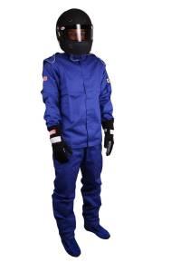 RJS SAFETY #200400305 Jacket Blue Large SFI-1 FR Cotton