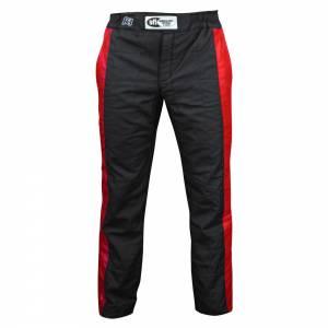 K1 RACEGEAR #22-SPT-NR-L Pant Sportsman Black / Red Large