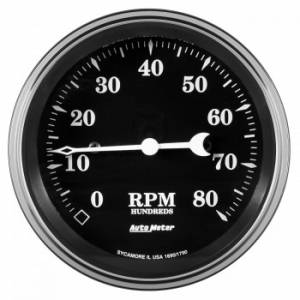 AUTO METER #1790 3-3/8 Tachometer 8000 RPM Old Tyme In-Dash