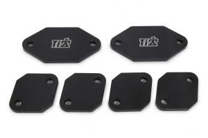 Ti22 PERFORMANCE #TIP5124 Exhaust Port Blockoffs Aluminum Standard Port