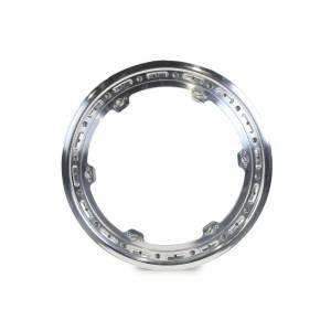 KEIZER ALUMINUM WHEELS INC #15blt Beadlock Ring Polished 15in w/3 Threaded Tabs