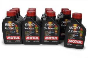 MOTUL USA #104775 8100 X-Clean FE 5w30 Oil Case 12 x 1 Liter