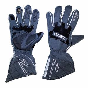 ZAMP #RG10015M Gloves ZR-50 Grey Med Multi-Layer SFI3.3/5
