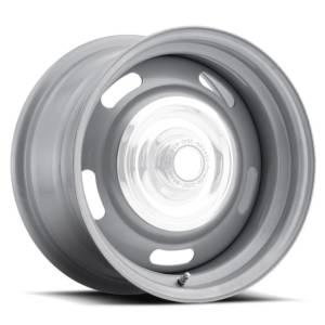 VISION WHEEL #55-5404 Wheel 15X4 5-4.5/4.75 Si lver Rally Vision