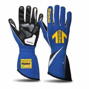 MOMO AUTOMOTIVE ACCESSORIES #GUCORSABLU11 Corsa R Gloves External Stitch Precurved Large