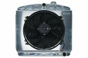 COLD CASE RADIATORS #CHT563AK 55-56 Tri-5 Chevy Radiat or & 16in Fan Kit 6 Cyl