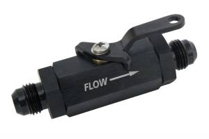RUSSELL #650633 Shutoff Valve - #6an Male Black Finish