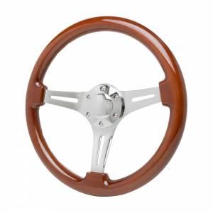 RACING POWER CO-PACKAGED #R5868 14in Chrome Steel Steering Wheel