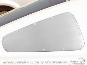 DRAKE AUTOMOTIVE GROUP #5R3Z-29796/7-R Quarter Window Cover Satin 10-13 Mustang