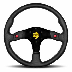 MOMO AUTOMOTIVE ACCESSORIES #R1960/32SHB MOD 30 Steering Wheel Black Suede w/Buttons