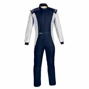 SPARCO #001128SFB54BMBI Comp Suit Navy/White Medium / Large