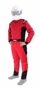 RACEQUIP #91609169 Suit Chevron Red X- Large SFI-5