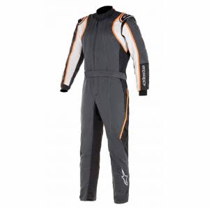 ALPINESTARS USA #3355120-1424-60 GP Race Suit V2 X-Large Black Flou Orange