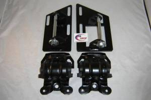CAR SHOP INC #2345-A2435 CSP2345-A2435 S10 S15 Blazer V8 2 Wheel Drive Swap Motor Mounts with Rubber Frame Mounts