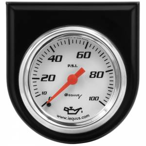 EQUUS #E5244 2.0 Dia Oil Pressure Gauge w/Black Panel