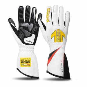 MOMO AUTOMOTIVE ACCESSORIES #GUCORSAWHT12 Corsa R Gloves External Stitch Precurved X-Large
