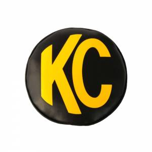 KC HILITES #5102 Light Covers 6in Round Black w/Yellow Soft