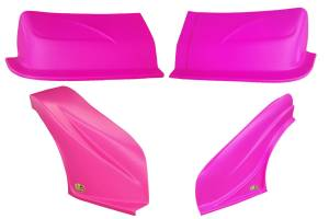 DOMINATOR RACING PRODUCTS #2200-PK D2X Dirt Nose & Flares Pink