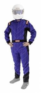 RACEQUIP #130924 Suit Chevron Blue Medium Tall SFI-1