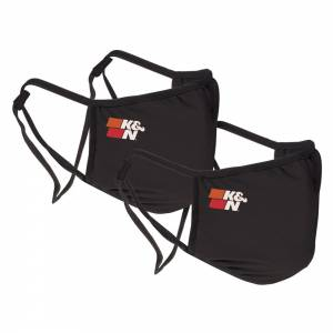 K AND N ENGINEERING #88-0500BK Face Cover Black 2 Pack