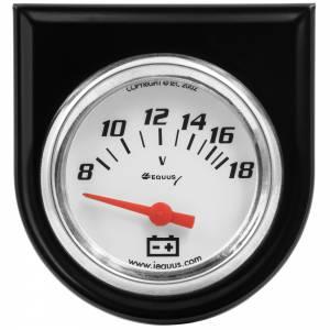 EQUUS #E5268 2.0 Dia Voltmeter Gauge w/Black Panel