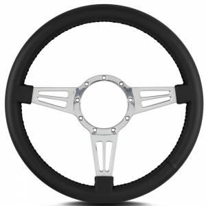 LECARRA STEERING WHEELS #44401 Steering Wheel Mark 4 Do uble Slot Pol. w/Blk Wra