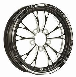 WELD RACING #84B-616B278UB V-Series Drag Wheel Blk 16x16 5x4.75 4.0 BS