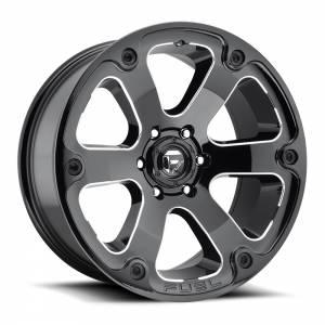 FUEL OFF ROAD #D57620009846 Wheel-Assault 20x10 6x13 5/6x139.70 Gloss Black