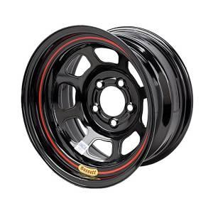 BASSETT #BAS57RN4 Wheel 15in x 7in 5x100mm DOT Black