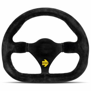 MOMO AUTOMOTIVE ACCESSORIES #R1922C/25S MOD 12 Cut Steering Whel Black Suede Cut