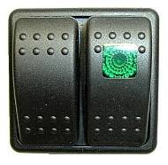 FASTRONIX SOLUTIONS #930-035 START/IGNITION ROCKER SWITCH PANEL W/GREEN INDICATOR
