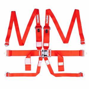 RACEQUIP SAFEQUIP #718008 6pt Harness Set L&L HNR Black SFI