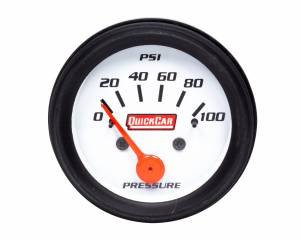 QUICKCAR RACING PRODUCTS #611-6204 Gauge Oil Pressure 2in Open Wheel