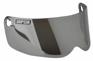 SIMPSON SAFETY #89204MBC Shield Outlaw Bandit Silver Smoke Mirrored