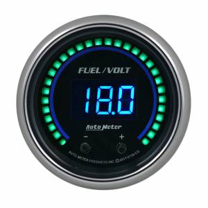AUTO METER #6709-CB 2-1/16 Fuel/Volt Gauge Elite Digital CB Series