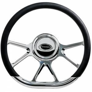 BILLET SPECIALTIES #29475 Steering Wheel 14in D-Sh ape Prism Polished