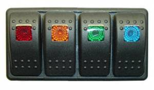 FASTRONIX SOLUTIONS #930-060 Mixed 4 Rocker Switch Panel
