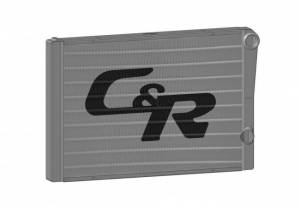 C AND R RACING RADIATORS #904-28191 Radiator 19 x 28 Double Pass High Outlet Closed