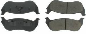 CENTRIC BRAKE PARTS #300.0881 Premium Semi-Metallic Brake Pads with Shims