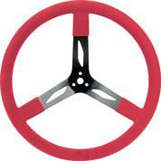 QUICKCAR RACING PRODUCTS #68-0041 17in Steering Wheel Steel Red
