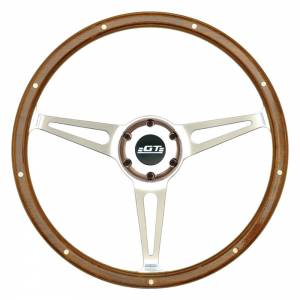 GT Performance #32-4247 GT3 Cobra Style Wood Steering Wheel 14in Polish