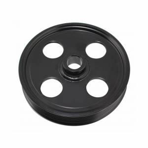 TUFF-STUFF #8489B Type II Power Steering Pulley 6 Groove Black