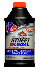 VP FUEL CONTAINERS #VP6100402 Brake Fluid Dot 4 Syn 12oz